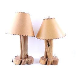 Rustic Alligator Juniper Table Lamps