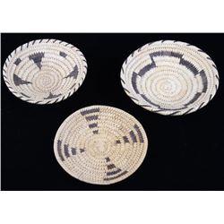 Navajo & Popago Hand Woven Coil Bowls