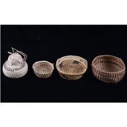 Papago Native American Hand Woven Small Baskets