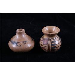 Acoma Pueblo Artist M. Ortiz Salesman Sample Pots