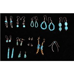 Navajo Sterling &Turquoise Earring Collection