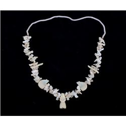 Navajo Bone & Turquoise Animal Fetish Necklace