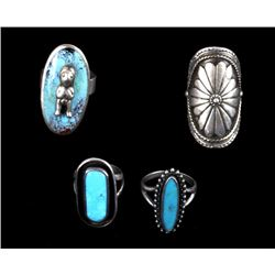 Navajo Sterling Silver & Turquoise Rings