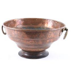 Large Copper & Brass Kitchen Washing Bowel