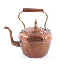 Early 1900's Copper & Brass Tea Kettle