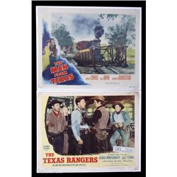 The Texas Ranger & The Man From Texas Lobby Cards