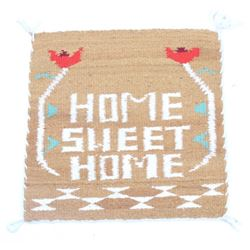 Navajo Home Sweet Home Rug by Jolene Morgan