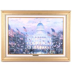 "T. Kinkade Framed Print, ""Flags Over The Capitol"""
