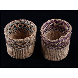 Papago American Indian Small Hand Woven Baskets