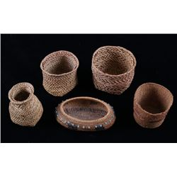 American Indian Hand Woven Small Baskets