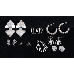 Navajo Sterling Silver Hand Made Earring Set