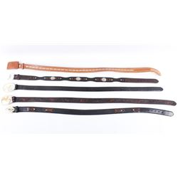 Western Decorated Leather Belt Collection