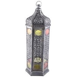 Moroccan Style Stained Glass Decorative Lantern