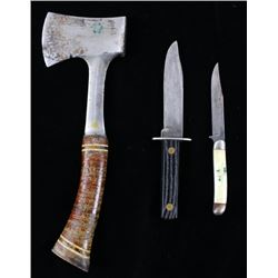 Camp Axe & Camping Knives with Sheaths