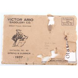 1937 Victor Ario Saddlery Co. Catalog & Envelope