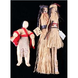 Early 1900's American Indian Wrapped Dolls