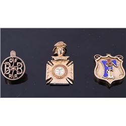 Railroad Watch FOB's and Cuff Pin Collection 1890-