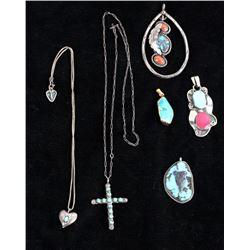 Navajo Turquoise Pendants & Necklaces