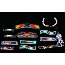 Native American Beaded Hair Clips & Accessories