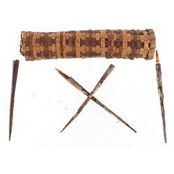 Southeastern Indian Blowgun Dart Quiver & Darts