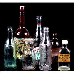 Rare Montana Glass Bottle Collection
