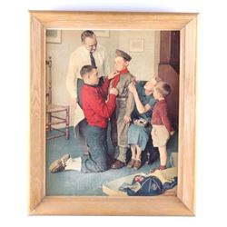 """Mighty Proud Boy Scout"" by Norman Rockwell"
