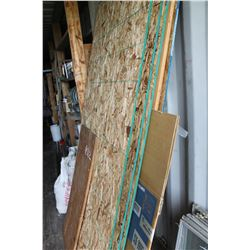 CHIP BOARD & PLYWOOD (APPROX 5 PIECES)