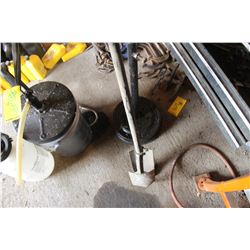 POST HOLE AUGER & PIPE STAND