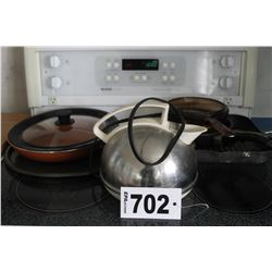 KETTLE, FRYING PANS, GRILL, ETC
