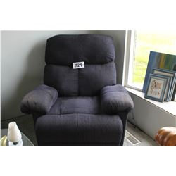 BLUE CLOTH RECLINER CHAIR