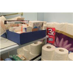 TOILET PAPER, BANDAIDS, SOAP, SEWING STOOL, ETC