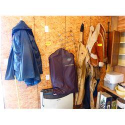 CLOTHING, JACKETS, RAIN PANTS, ETC