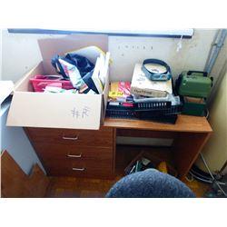 OPTIVISOR, OFFICE SUPPLIES, BASKETS, BROWN DESK