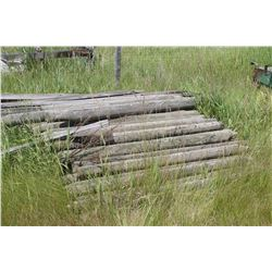 QUANTITY OF POSTS (APPROX. 50) & MISC LUMBER