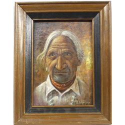 Original Navajo Painting by Elvan Roan