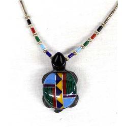 Oglala Lakota Sioux Fetish Necklace, Brave Eagle