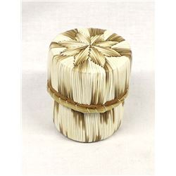 Native American Lidded Porcupine Quill Basket