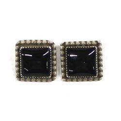 Navajo Sterling Onyx Earrings