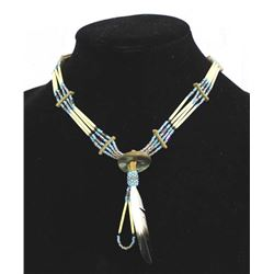 Native American Porcupine Quill Choker Necklace