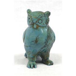 Ethnic Carved Turquoise Owl Fetish