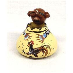 Sioux Miniature Mudhead Pottery by Rainbow Hand