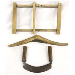 3 Antique Wood Tools