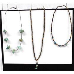 3 Native American Navajo Necklaces