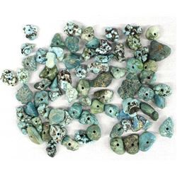 Collection of Turquoise Nugget Beads
