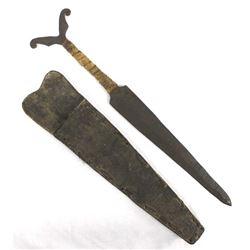 Antique-Vintage Hand Wrought Iron Northwest Coast Athbaskan Dagger