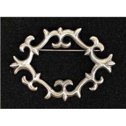 Native American Navajo Sterling Silver Pin