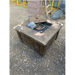 SQUARE PROPANE OUTDOOR FIRE TABLE AS-IS DAMAGED
