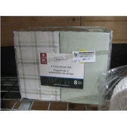 MAINSTAYS 2 PACK SHEET SET DOUBLE/QUEEN