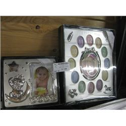 SET OF 2 MY FIRST YEAR PICTURE FRAME