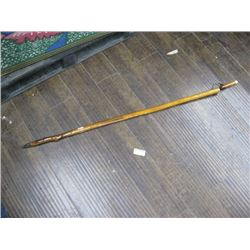 WALKING AND HIKING STICK WITH WOODEN WHISTLE